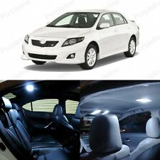 8 x Xenon White LED Interior Lights Package Kit For Toyota Corolla S 2009 - 2014