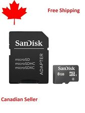 SanDisk 8GB Micro SD SDHC Class 4 TF Flash Memory Card plus Free Adapter