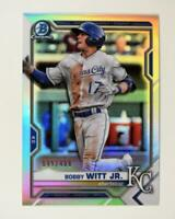 2021 Bowman Prospects Chrome Refractor #BCP-1 Bobby Witt Jr. /499 - Royals