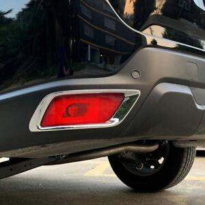 for Subaru Forester 2019 2020 Chrome Rear Tail Fog Light Frame Cover Trim 2pcs
