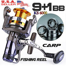 Pulline Km6000 Water Spinning Fishing Reel 9+1Bb Metal Big Reels Freshwater Us