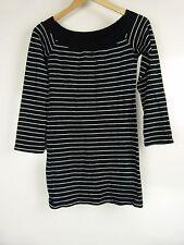 ZARA BASICS Tunic top/jumper Sz M Black silver stripe Knit