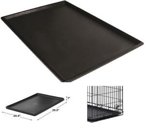 Pet Dog Crate Replacement Pan 30-Inch Ls Plastic Liner Repl Tray Floor Cage