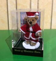 WORLD OF MINIATURE BEARS NICK SANTA TINY BEAR  LTD EDITION IN DISPLAY CASE