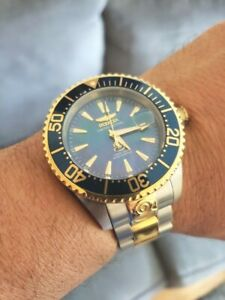 Invicta 23305 47mm Grand Diver Automatic Two Tone SS  Blue MOP Dial LD