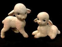 Vintage Japan Lefton White Baby  Lambs/ Sheep Figures Set Easter Decor H-4546