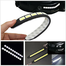 1Pair 12V COB 10LED Car DRL Fog Strip Daytime Running Driving Light Super Bright