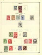 Turks & Caicos Collection from Excellent Scott Intern Album 1840-1940