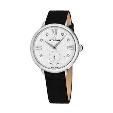 Eterna Women's Eternity White Diamond Dial Black Quartz Watch 2801.41.96.1408