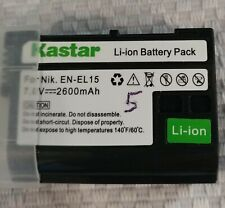 Kastar EN-EL15B ENEL15b Battery For Nikon D7100 D7000 D800 D810 D750 Z7 Z6 V1