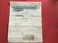 Wilson & Union Tube Co Lapwelded Iron Steel Boiler 1906 Glasgow  receipt R33193