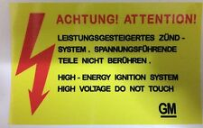 Vauxhall Astra Mk2 Voltage Warning Sticker 10% Discount To FB Groups