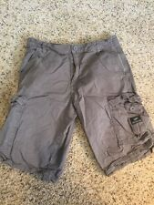 Mens - VANS Off The Wall - Gray Flat Front Cargo Shorts 28 Cotton Kd6