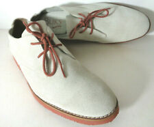 BUKS by WALKOVER Mens US 8M Ivory Suede Leather Casual Oxford Shoes