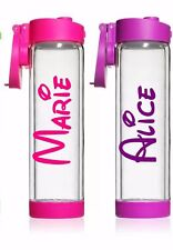 Personalised Sticker Name Label Water Drink Bottle Disney Font Decal Hen Gym
