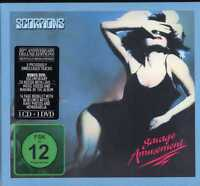 """SCORPIONS """"SAVAGE AMUSEMENT"""" ALBUM DOUBLE CD DVD DIG. RE. NEW SEALED"""