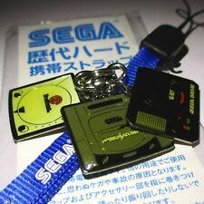 SEGA CONSOLE CHARMS SATURN MEGADRIVE DREAMCAST JAPAN (STRAP DAMAGED) FLAIR RETRO