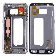 CARCASA MARCO TAPA compatible Samsung Galaxy S7 G930 G930F Adhesivo Negro Gris