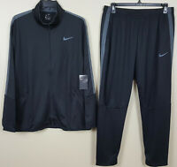 NIKE DRI-FIT BASKETBALL TRACK SUIT JACKET + PANTS BLACK GREY RARE NEW (MEDIUM)