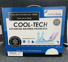 Cool-Tech Advanced Mattress Protector Queen Healthy Sleep White New