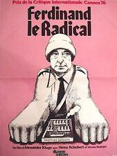 Affiche 40x60cm FERDINAND LE RADICAL /DER STARKE …1976 Heinz Schubert NEUVE