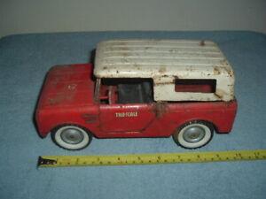 Vintage Tru Scale International Scout Truck, Pressed Steel, Restore.....NR