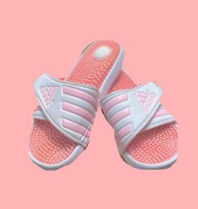 Vintage Pink Adidas Slides Fairy Kei Pastel 80s Retro