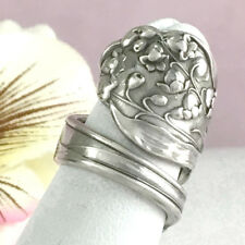 LILY VALLEY Sterling Ring Silver Spoon Silverware Jewelry Custom Sz,May Flower