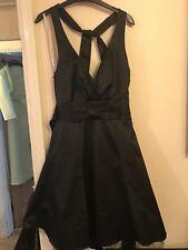 Red Herring Halter neck Black Dress Size 8
