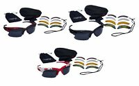 CHEX Europa Cycling Sports Glasses Sunglasses 5 Interchangeable Lenses Tinted