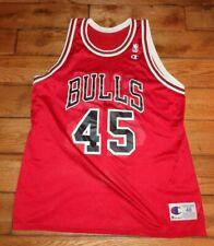 Vintage MICHAEL JORDAN Jersey #45 NBA Chicago Bulls CHAMPION Size 48 Adult