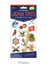 Jean Tats Temporary Tattoos For Clothes: Pirates