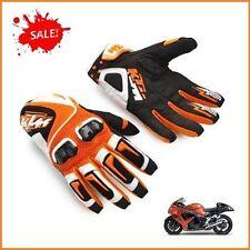 Gants Noir et Orange - KTM Armure Moto Course Racing Motocross VTT Quad