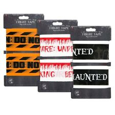 12m Halloween Warning Fright Tape Banner Garland Scary Scene Decoration Party