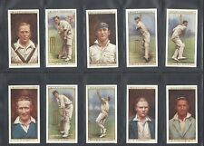 WILLS - CRICKETERS, 1928 - FULL SET OF 50 CARDS