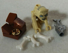 NEW LEGO GOLLUM MINIFIG + ring, bones, and fish 79000 figure minifigure lotr