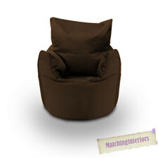 Brown Cotton Children's Kids Toddlers Filled Beanchair Bean Bag Chair with Beans