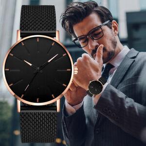 Trendy Fashion Military Men's Sport Quartz Analog Stainless Steel Wrist Watch AU