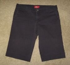 Dickies Girl Navy Blue Khaki Trouser Long Walking Shorts Size 7