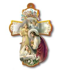 "Large 8"" FIRST HOLY COMMUNION Wall Cross ~ Girl Jesus Angels Keepsake Gift ~ NEW"