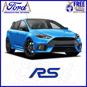 FORD RS BADGE 3D STICKER GRILL TAILGATE NAMEPLATE RS EMBLEM RS LOGO OE NEW BLUE