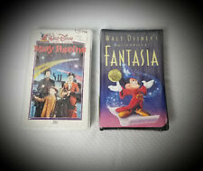 NEW-Disney Exclusive Movies VHS-Mary Poppins & Fantasia