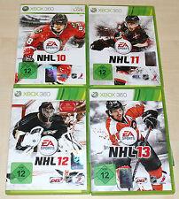 4 XBOX 360 SPIELE SAMMLUNG NHL 10 11 12 13 - ICE HOCKEY EISHOCKEY ------ (14 15)