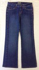 U.S.Polo Assn. Womens Jeans Size 7 8 Bootcut Mid-Rise Blue Stretch Denim 28x28