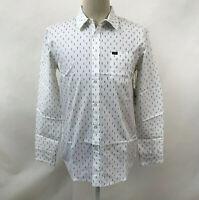 Obey Men's LS Woven Button Down Shirt Screw White Size M NWT Shepard Fairey