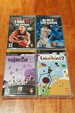 New Sealed! 4 Sony PSP UMD Games: Patapon 2, LocoRoco 2, NBA 10, MLB 10