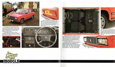 Lada Riva Saloon 1985-86 UK Market Sales Brochure 1200 Base L 1300 GL 1500 GLS