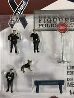 Police Set figures,Scale 1:64 by American Diorama