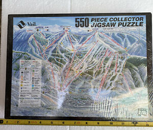 """New Vail Trail Map 550 Pieces Jigsaw Puzzle 18 X 24"""" Ski Area In A Box"""