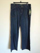 NWT Lauren Jeans Co Women's Denim Jeans size 8  Mrchnt Wash  $99.50  C15